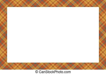 borda, vector., xadrez, vindima, escocês, padrão, retro, tartan, quadro, style., ornament.