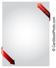bordage, flèches, rouges, papier
