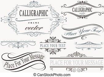 bordas, calligraphic