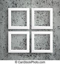 bordas, concreto, branca, 4