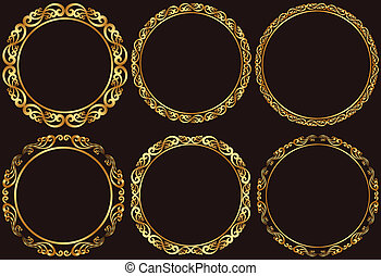 bordas, dourado
