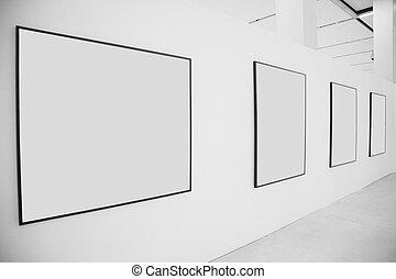 bordas, exibição, corredor