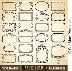 bordas, jogo, (vector), ornate
