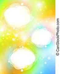 bordas, luminoso, copyspace