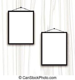 bordas, madeira, 0902, fundo, em branco