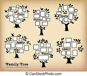 bordas, memórias, árvore