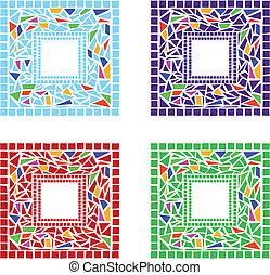 bordas, mosaico