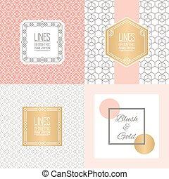 bordas, padrões, linha, jogo, linear