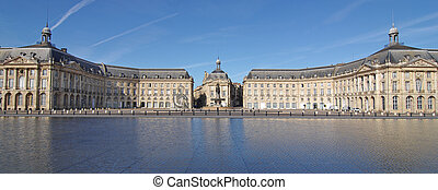 """The """"Place de la Bourse"""" in Bordeaux was designed by the royal architect Jacques Ange Gabriel between 1730 and 1775"""