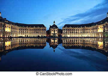"Bordeaux Place de la Bourse - The ""Place de la Bourse"" in..."