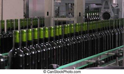 Bordeaux Saint Emilion bottling - transportation of bottles...