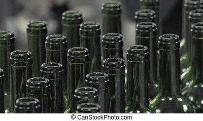 Bordeaux Saint Emilion bottling uni - conveying empty...