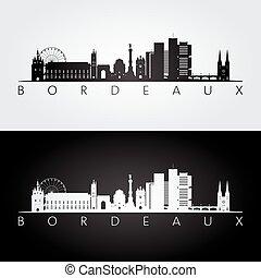 bordeaux, silhouette, orizzonte, limiti