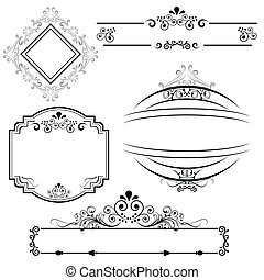 Border and frame designs - Calligraphic border and frame...