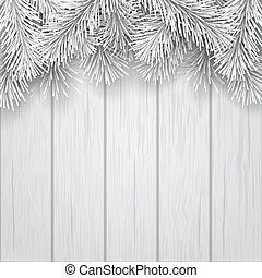border artificial Christmas tree branch white
