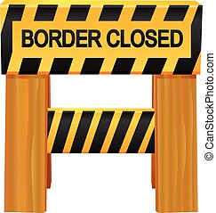 Border Closed vector icon