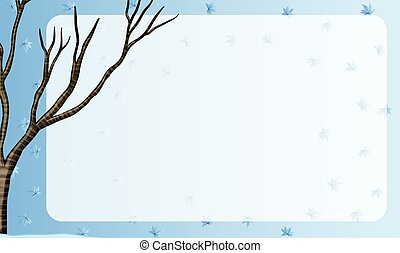 Border design with branch of a tree
