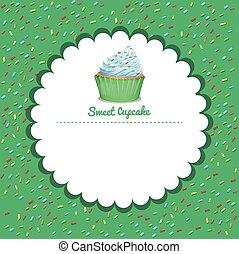 Border design with cupcake
