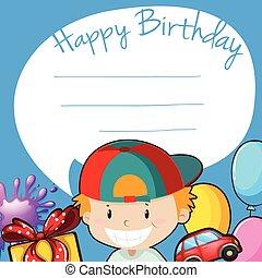 Border design with happy birthday theme