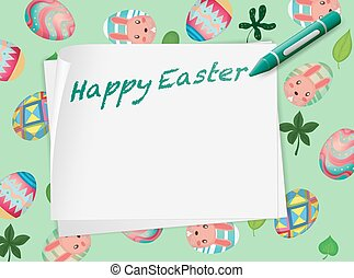Border design with happy easter theme