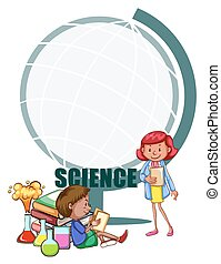 Border design with science theme