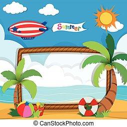Border design with summer theme