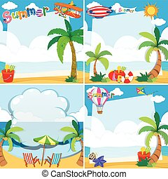 Border design with summer theme