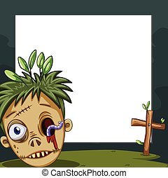 Border design with zombie head