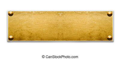 Border frame - Metallic border frame with wood texture