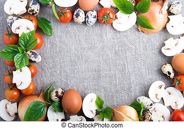 Border image is made from food ingredients