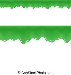 border., liquid., slam, seamless, drips., vector., flytande, giftig