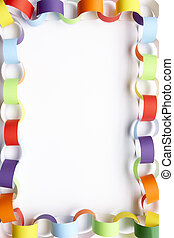 Border made from paper chains - Border made from colourful...