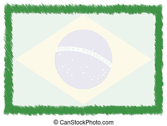 Border made with Brazil national flag.