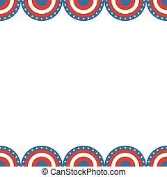 Border of American flag.