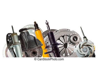 Border of car parts