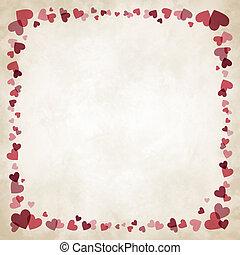 Border of hearts