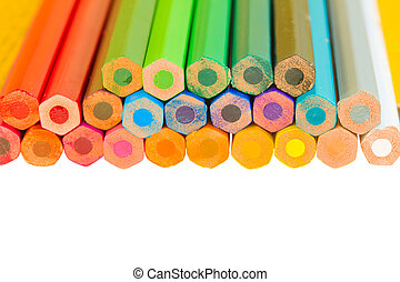 border of multicoloured pencils - multicoloured pensils ...