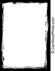 Border of Paint stokes - Border of paint strokes on an...