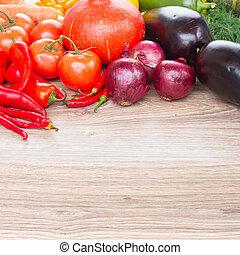 border of vegetables