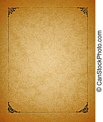 Border on Old Paper Background