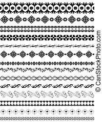 border oriental arabesque pattern