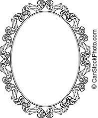 silhouette of frame oval