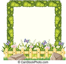 Border template with green grass