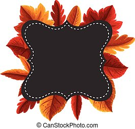 Border template with orange leaves
