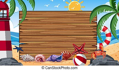 Border template with summer theme in background