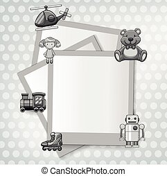Border template with toys theme