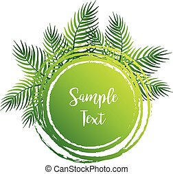 Border template wtih green leaves