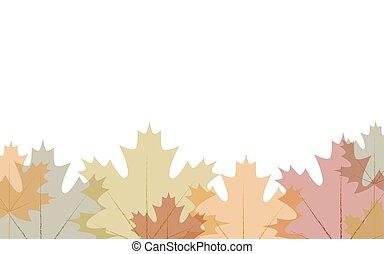Border transparent autumn leaves