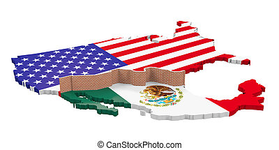 Border Wall Between America and Mexico