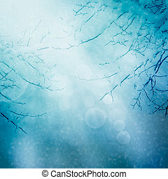 Border winter nature background